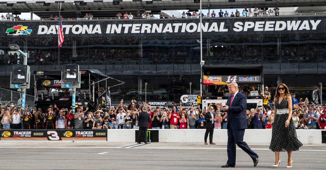 Trump Kicks Off the Daytona 500, and a Race for Florida Votes