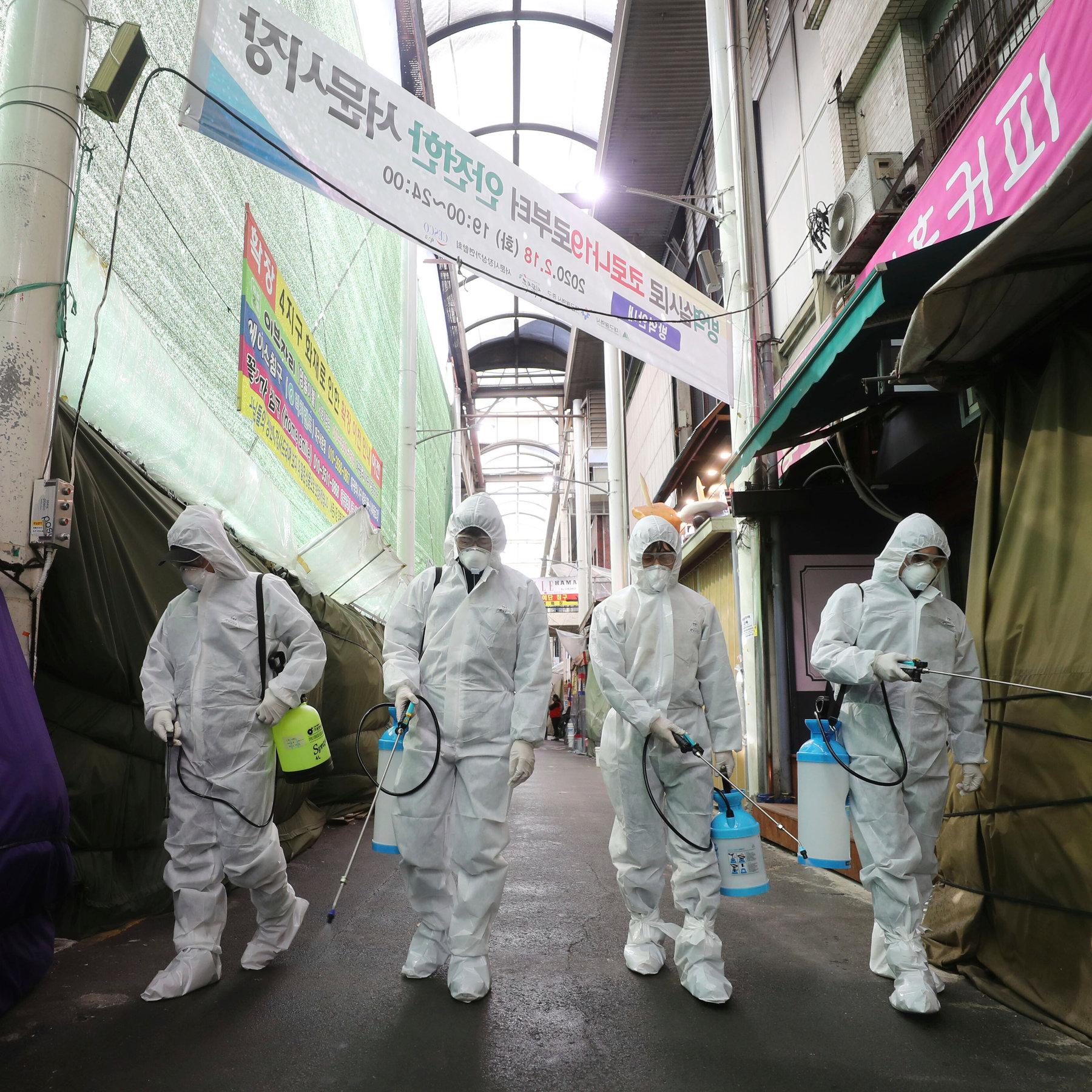 As Coronavirus Cases Spiral, South Korea Raises Threat Alert Level ...