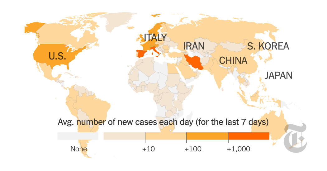 Coronavirus Map: Tracking the Global Outbreak - The New York Times