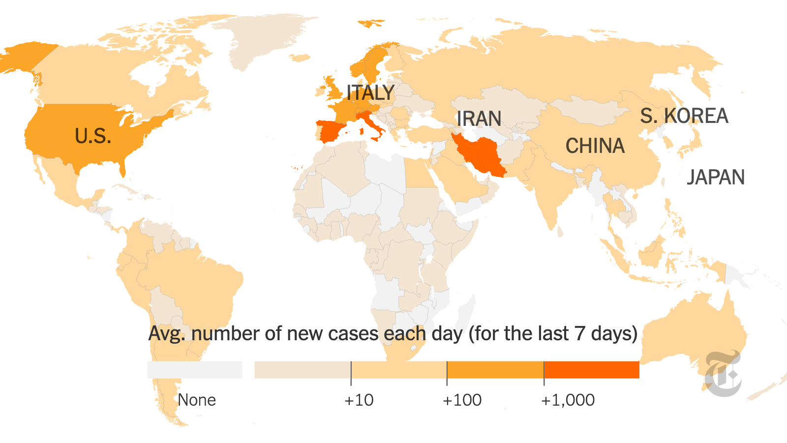 Coronavirus Map: Tracking the Global Outbreak - The New York Times