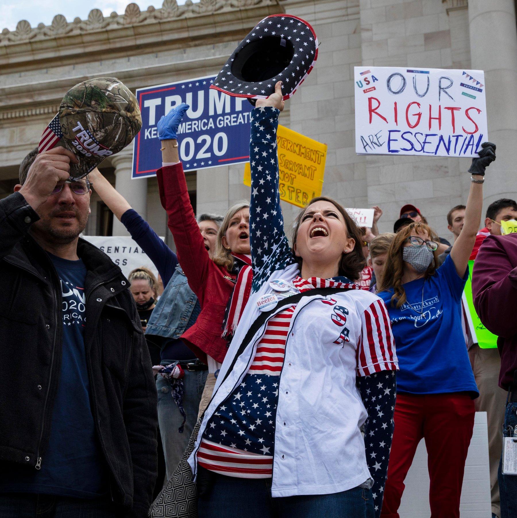 Corona Lockdown Protest Usa