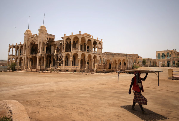 The port city of Massawa, Eritrea, in 2018. The European Commission helped pay for the construction of a road to connect the Ethiopia-Eritrea border with Massawa, as part of a broader strategy to support peace between the two longtime foes.