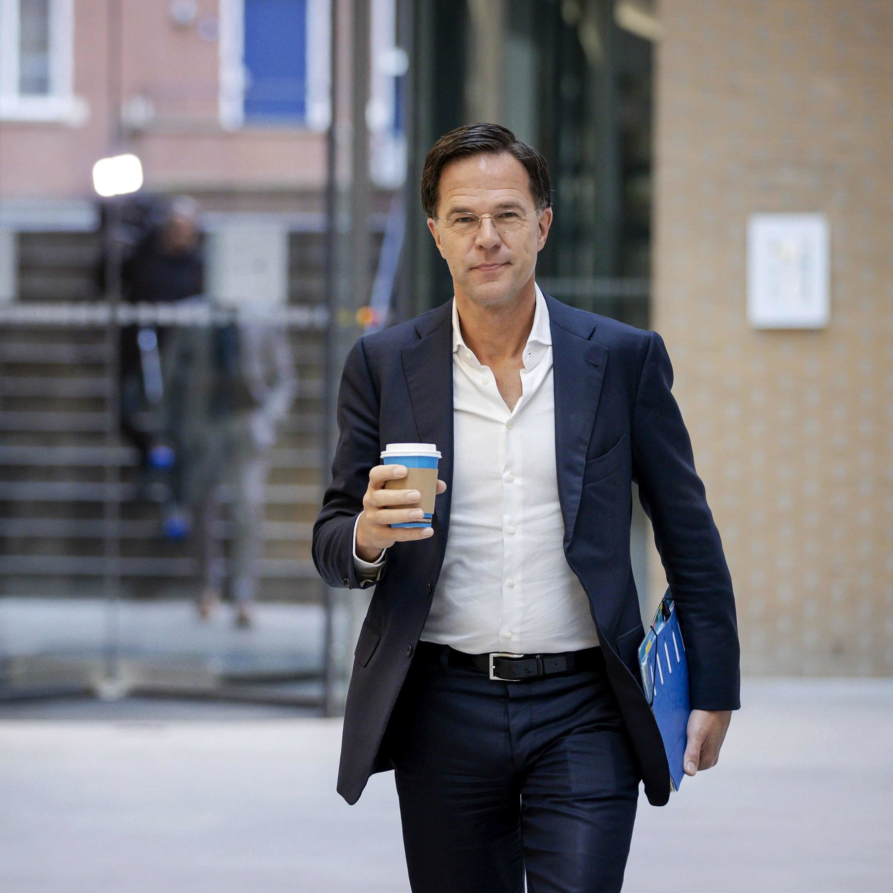 dutch leader offers a sober contrast in