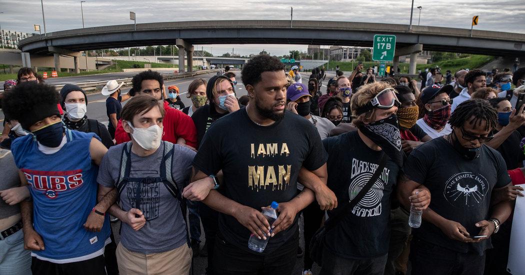 Live Updates on George Floyd Protests: Overnight Mayhem Follows Peaceful Rallies