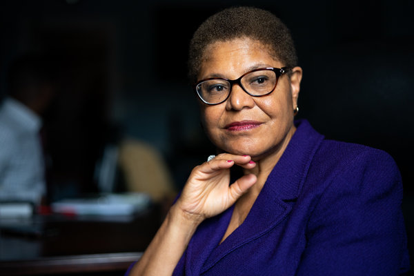 Drawing On Decades Of Activism Karen Bass Leads Democrats