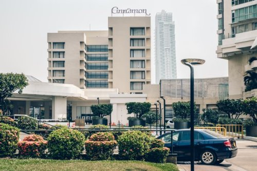 The Cinnamon Grand hotel in Colombo, where Inshaf Ibrahim detonated a bomb in a restaurant in April 2019.