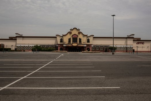 A closed AMC theater in Elizabeth, N.J. The multiplex chain joined several others in suing the state for not allowing their theaters to reopen.
