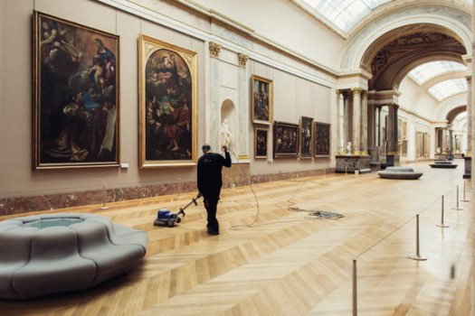 The Louvre, in Paris, before it reopened Monday.