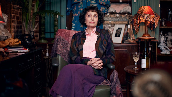 "Kristin Scott Thomas in the ""Hand of God"" episode of ""Talking Heads."" She plays Celia, an antique dealer."