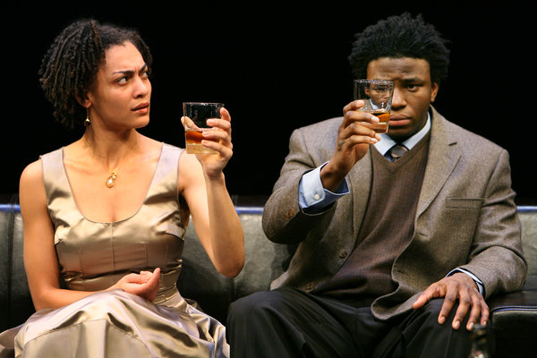 "Amelia Workman and Okieriete Onodowan in Young Jean Lee's ""The Shipment,"" presented at the Kitchen in 2009. A Seattle production of the play is available on OntheBoards.tv."