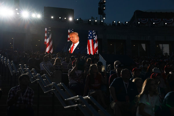 Mr. Trump gave a divisive speech at Mount Rushmore on July 3, where he refrained from mentioning Mr. Biden, whom he has struggled to attack.