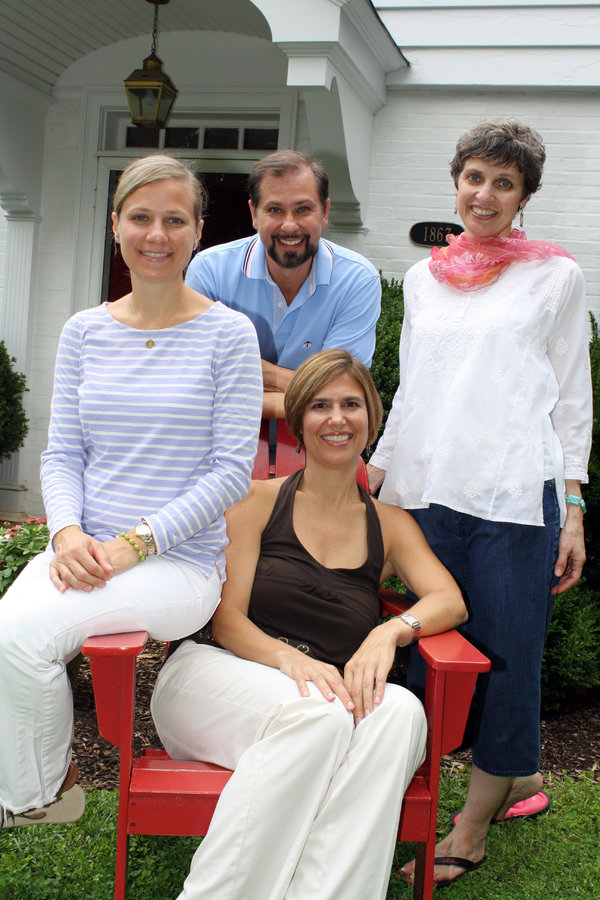 Dr. Lorna Breen, seated, with her siblings (from left to right) Jennifer Feist, Michael Breen and Karen Cooper in a 2012 family photo.