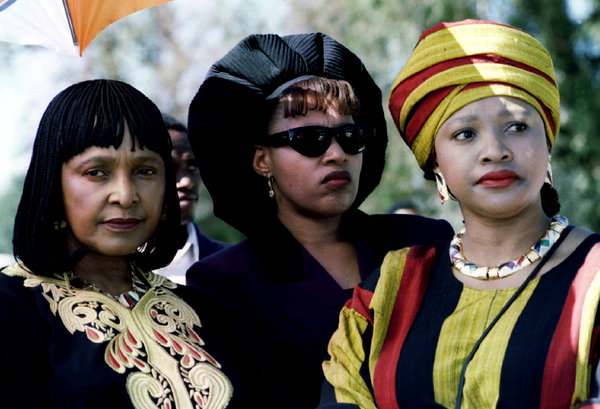 Zindzi Mandela, right, with her sister, Zenani, and their mother, Winnie Madikizela-Mandela, left.