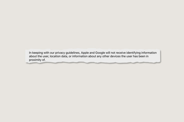 "An excerpt from Apple and Google's ""Frequently Asked Questions"" about their free software for coronavirus tracing."