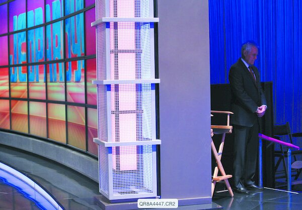 """Alex Trebek gathering himself backstage before taping an episode of """"Jeopardy!"""""""