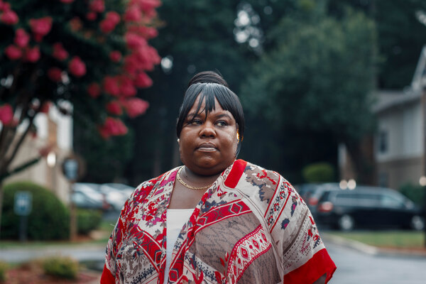 Yolanda Jackson, still waiting for unemployment benefits after losing her job during the pandemic, is trying to fend off eviction from LaVista Crossing.