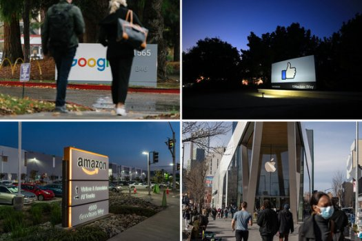 Alphabet, Facebook, Apple and Amazon reported a combined $28 billion in profits on Thursday.