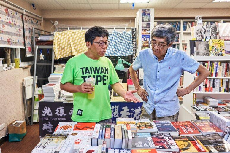 55岁的电台节目主持人陈财能经常来拜访林荣基。