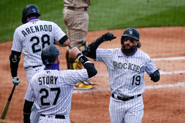 Blackmon, Trevor Story and Nolan Arenado have helped make the Rockies the surprise N.L. West leaders.