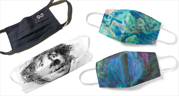 Masks have been big sellers at museum gift shops. Clockwise from top left, an offering from the Klimt Villa in Vienna, two from the Metropolitan Museum of Art, and one from the Rijksmuseum in Amsterdam.