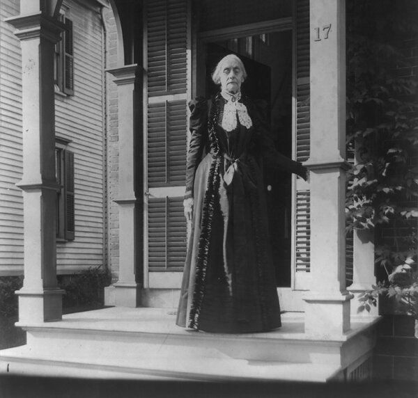 Susan B. Anthony in 1900.