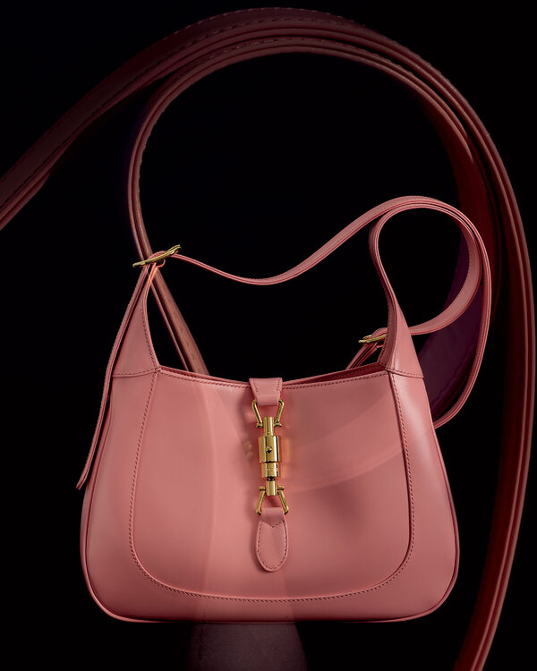 "The latest edition, in pastel pink leather. $1,990, <a href=""https://www.gucci.com/us/en/"">gucci.com</a>."