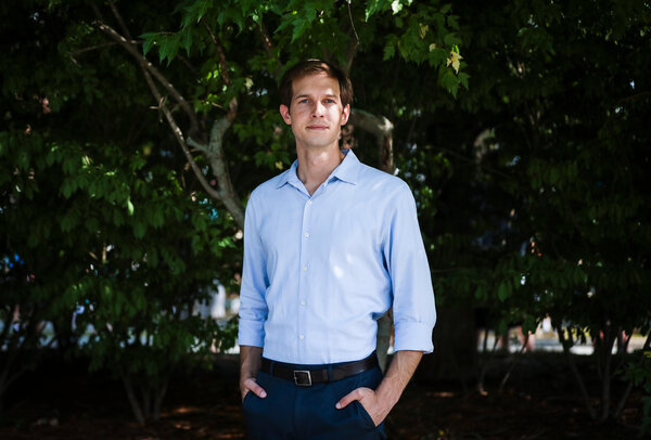 Jake Auchincloss won the nine-way Democratic primary with less than 23 percent of the vote.
