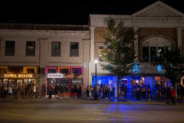 Downtown Iowa City, the weekend before the Aug. 24 University of Iowa start of classes.