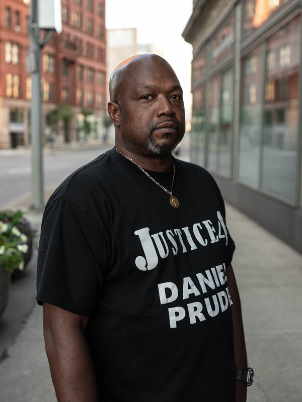 """Joe Prude, Daniel Prude's brother.""""I placed a phone call to get my brother help,"""" he told reporters, """"not to have my brother lynched."""""""