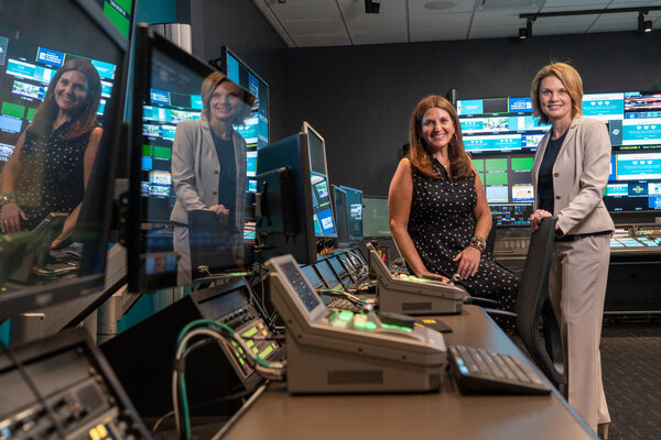 Laura Sandall, left, vide president for marketing of the Miami Dolphins and Kim Rometo, the chief information officer, trimmed their game day staff by about 20 percent.