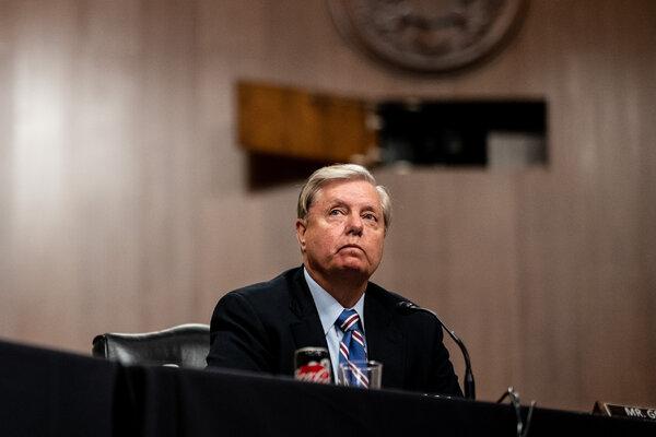 Senator Lindsey Graham encouraged President Trump to talk to Bob Woodward, the Fox host Tucker Carlson said.