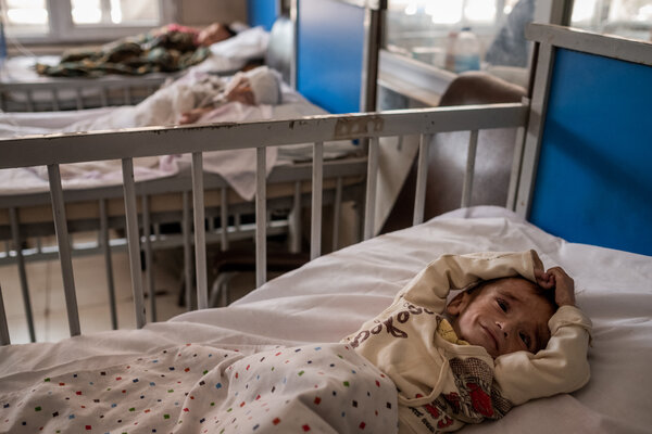 The children's hospital in Kabul.Worldwide, the number of children younger than 5 caught in a state of so-called wasting is expected to grow by nearly seven million this year, or 14 percent.