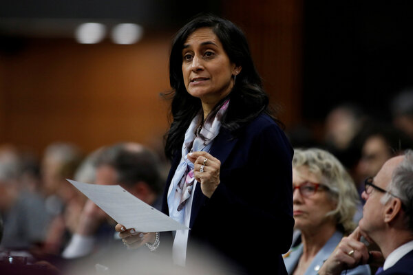 Anita Anand, the cabinet minister responsible for buying Canada's coronavirus vaccine.