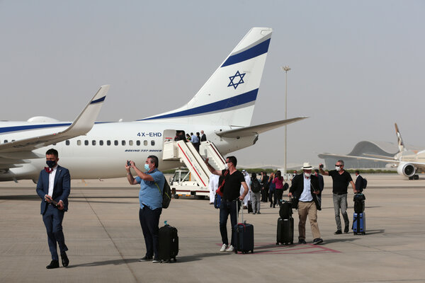 A chartered El Al flight completed a symbolic first journey last month from Tel Aviv to Abu Dhabi in the United Arab Emirates.