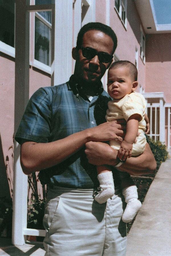 Mr. Harris with his daughter Kamala in 1965.