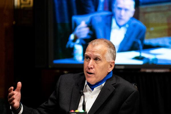 Recent polls show Senator Thom Tillis of North Carolina trailing his Democratic challenger, Cal Cunningham.