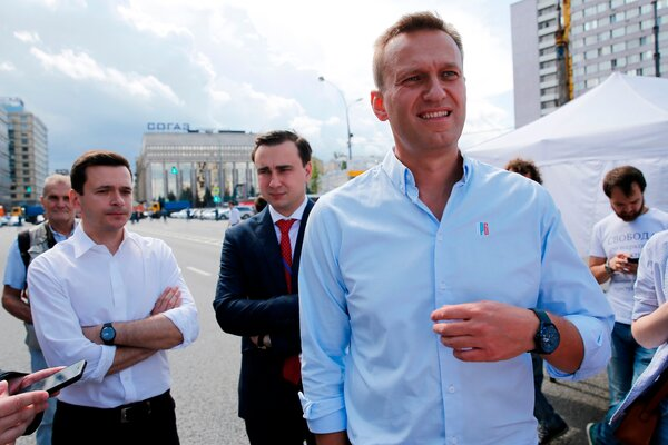 Aleksei A. Navalny in Moscow in 2019. His condition has improved since he was poisoned last month, though his doctors have not ruled out long-term complications.