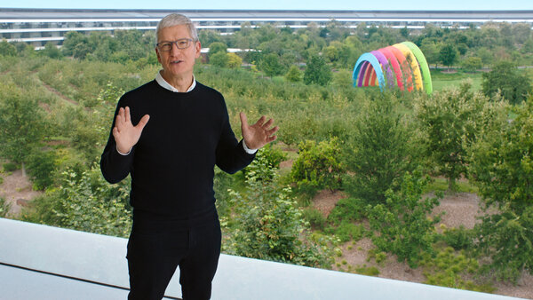 Tim Cook, the chief executive of Apple, kicking off the company's introduction of new devices and a new digital fitness subscription service.