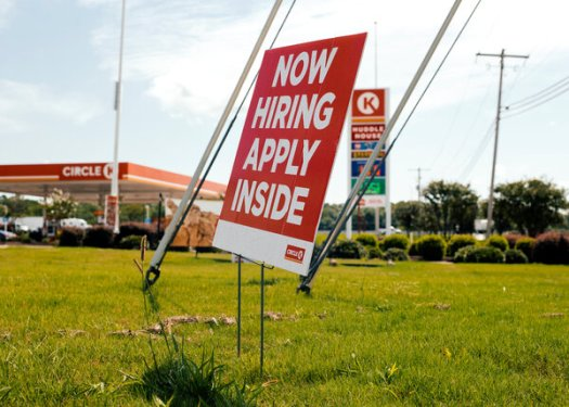 """A Circle K gas station in Senatobia, Miss. """"People still expect to get their old jobs back,"""" said Julia Pollak, a labor economist at ZipRecruiter."""