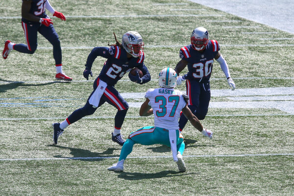 Depending on who Patriots cornerback Stephon Gilmore, with ball, decides to cover, it will be a bad day for either Seahawks receiver D.K. Metcalf or Tyler Lockett.