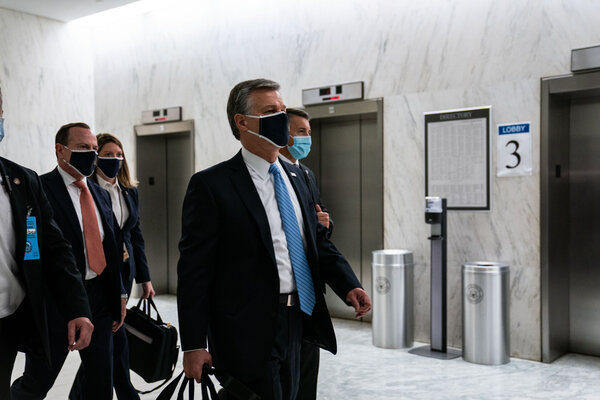 Christopher Wray, the F.B.I. director, testified Thursday before the House Committee on Homeland Security.