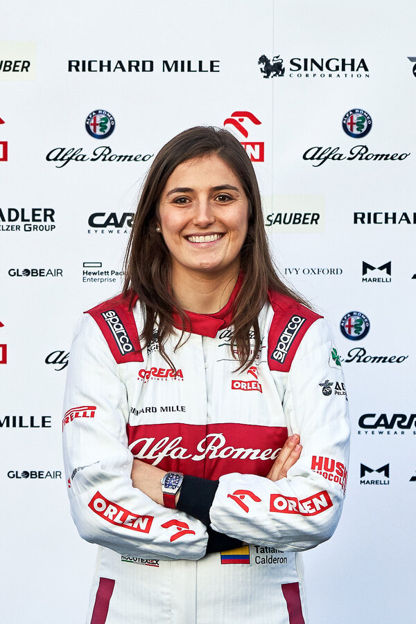 Tatiana Calderón of Colombia will also be on the team of women racing at Le Mans.