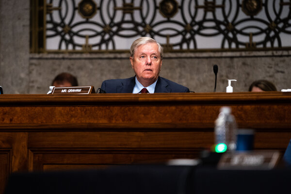 Senator Lindsey Graham is chairman of the Judiciary Committee, which would oversee the hearings on Justice Ruth Bader Ginsburg's successor.