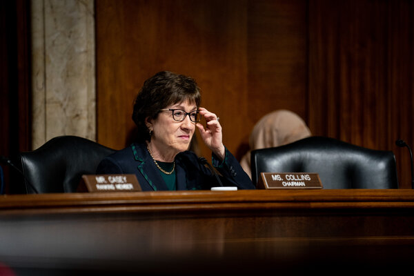 Senator Susan Collins, Republican of Maine, is considered a swing vote and is facing a tough challenge from Sara Gideon, her Democratic opponent.