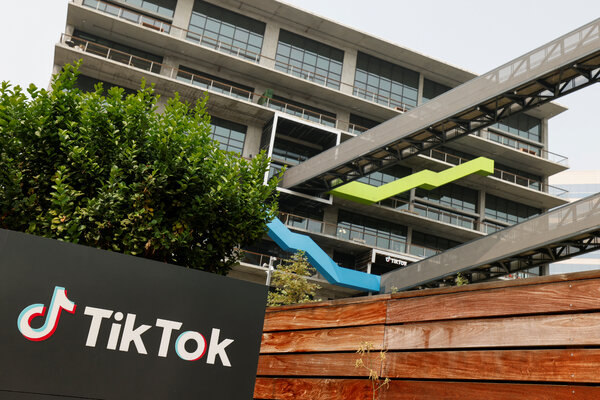 The U.S. headquarters of TikTok in Culver City, Calif. A deal to acquire the company was announced on Saturday, but the details have come under scrutiny.