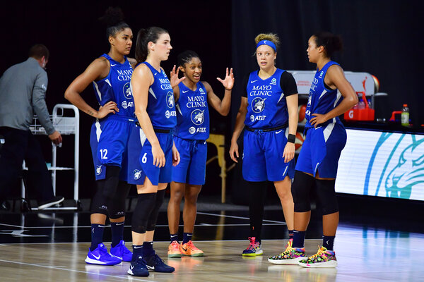Crystal Dangerfield, center, led the Minnesota Lynx in scoring this season with 16.2 games per game.