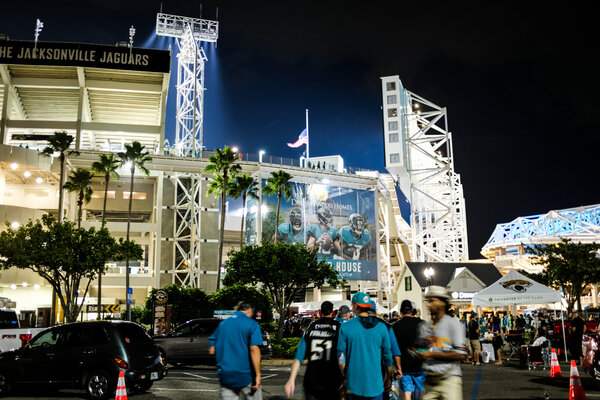 Fans headed into TIAA Bank Field in Jacksonville, Fla., on Thursday to see the Jaguars face the Miami Dolphins.