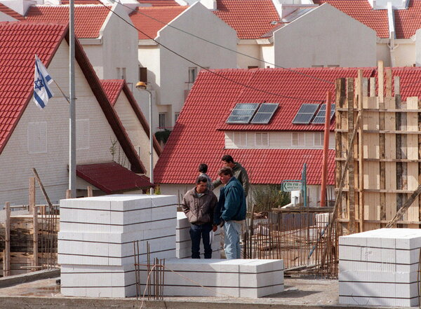 Houses for Israelis were under construction in the West Bank in 1998. Mr. Benvenisti said the growth of the settlements would preclude a two-state solution to the decades of conflict with Palestinians there.