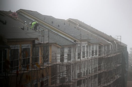 Residential construction jobs rose 2.1 percent from June to August, according to a contractors' group.