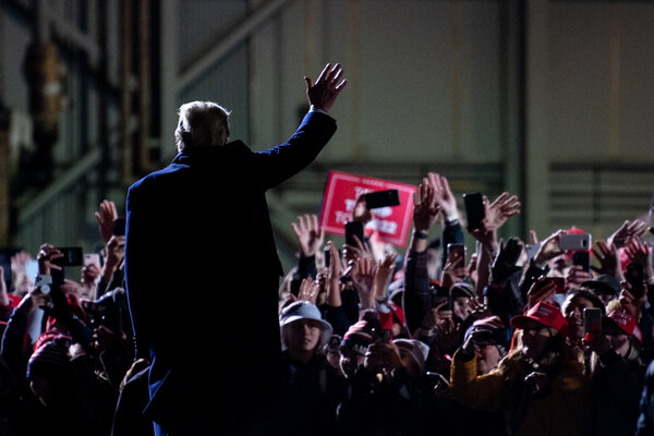 Mr. Trump on Wednesday night at a rally in Duluth, Minn.